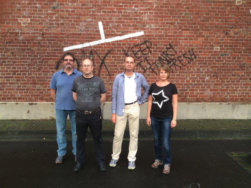 Von links: Denis, Carsten, Stefan und Birgit.